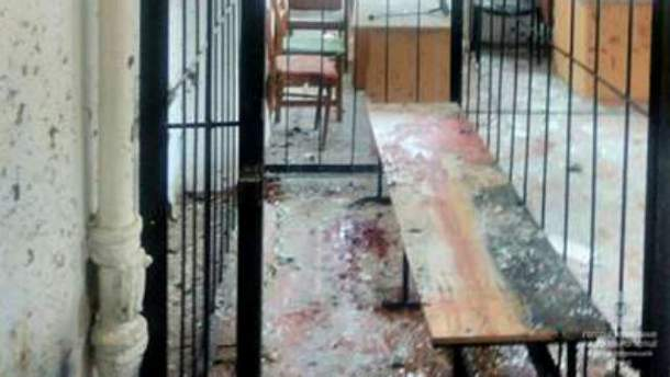 Взрыв в суде в Никополе