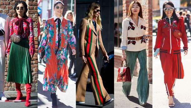 Gucci street-образы на Milan Fashion Week 2017