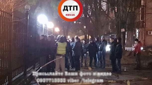 Протести у Києві біля Солом'янського райвідділу поліції