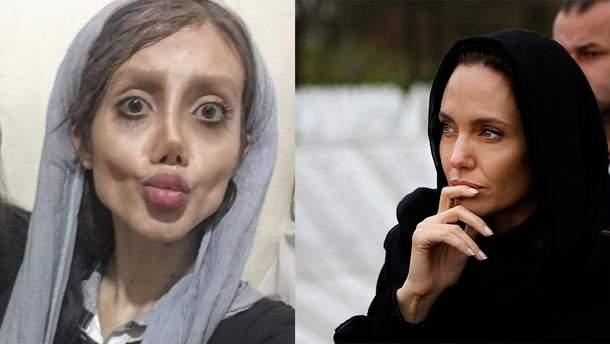 Сахар Табар (слева) и Анджелина Джоли (справа)