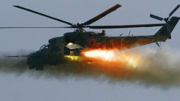 """Терористи """"ІД"""" заявляють, що знищили російський вертоліт Мі-24 у Сирії"""