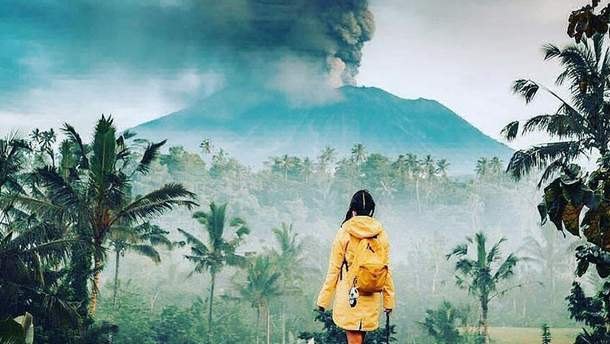 Извержение вулкана Маунт Агунг