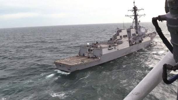 Украинские ВМС провели совместные учения с эсминцем США