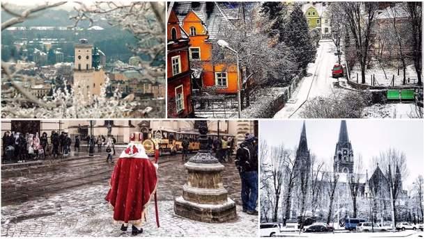 Львів замело снігом