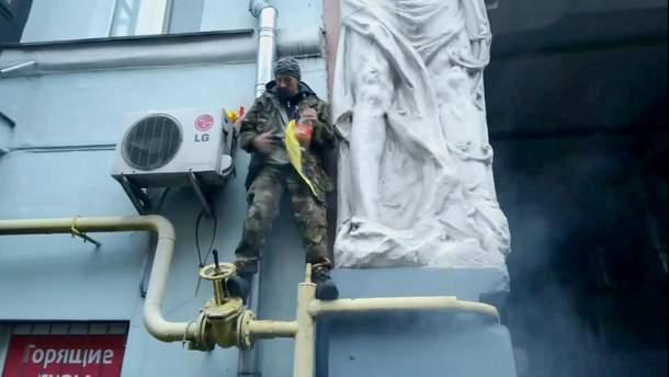 Активіст під будинком Саакашвілі зробив спробу самоспалення