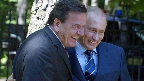 Герхарт Шредер и Владимир Путин