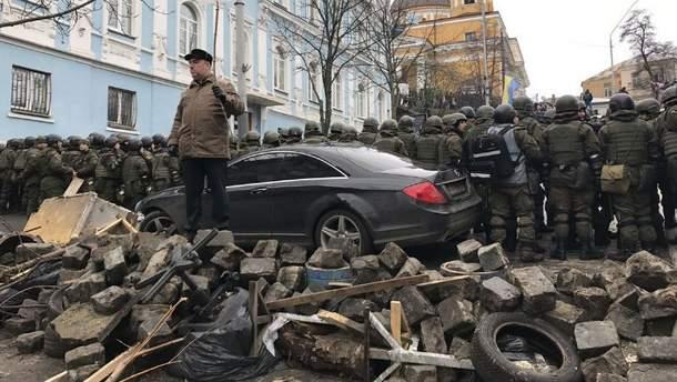 Баррикада в центре Киева