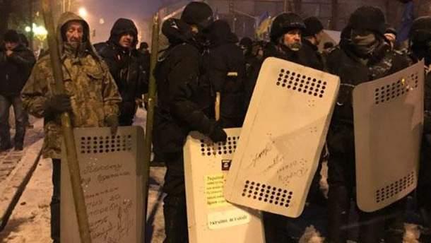 Штурм палаточного городка в Киеве