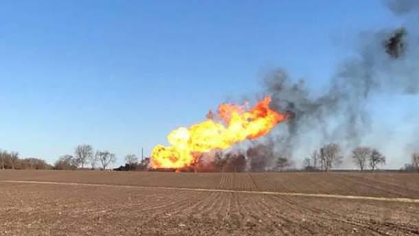 Взрыв на газопроводе в США
