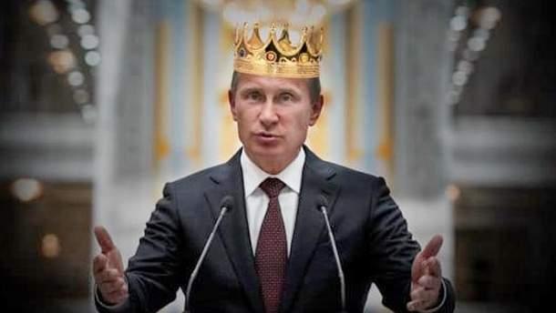 Карикатура на участь Путіна у виборах президента Росії-2018