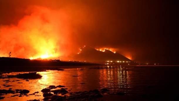 Лісові пожежі у Лос-Анджелесі
