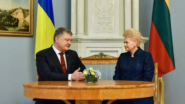 Петро Порошенко, Даля Грібаускайте