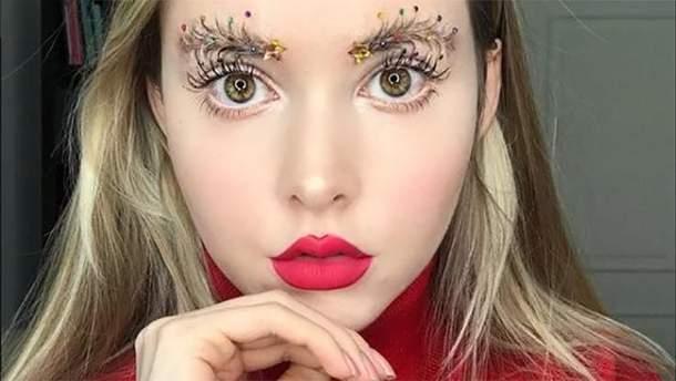 В Instagram набирают популярность брови-елки