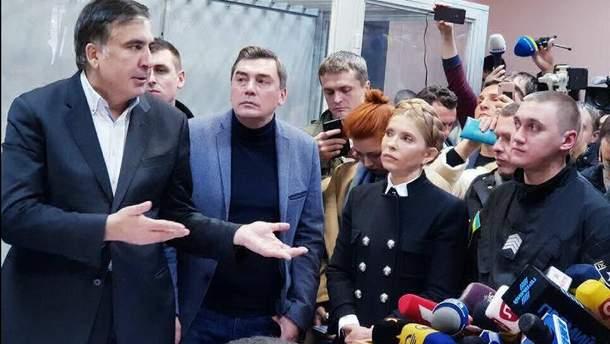 Народні депутати прийшли підтримати Саакашвілі в суді