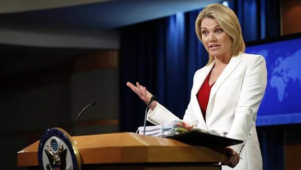Представник Держдепартаменту Нойерт заявила, що США закликають Росію припинити обстріли на Донбасі