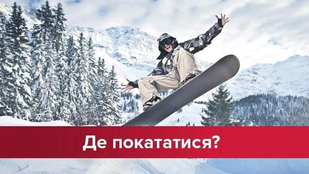 Де покататися на сноуборді в Україні
