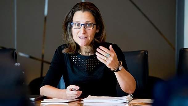 Руководительница МИД Канады Христя Фриланд