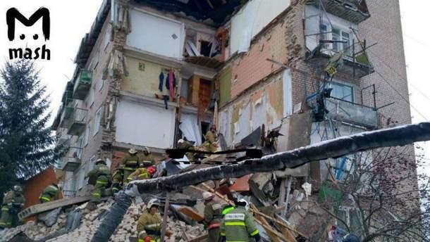 В России рухнула стена многоэтажного дома