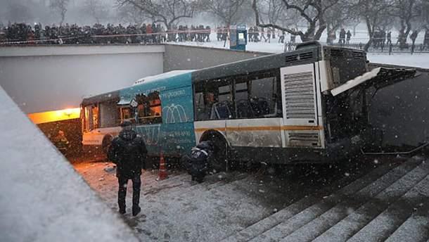 Аварія на Слов'янському бульварі у Москві