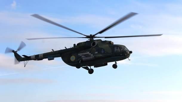 Військові провели у зоні АТО навчання на вертольотах