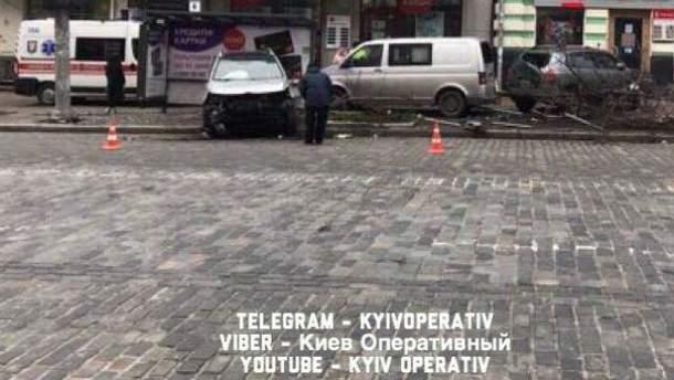 Мощная авария в Киеве