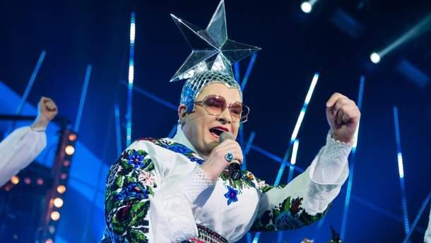 Данилко развлекал россиян на Новый Год
