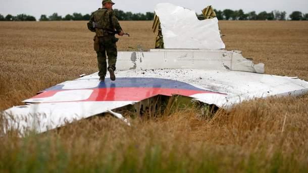 Боевик на обломках сбитого Boeing рейса MH17