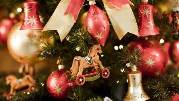 Россияне украли новогодние украшения с елки в Риге