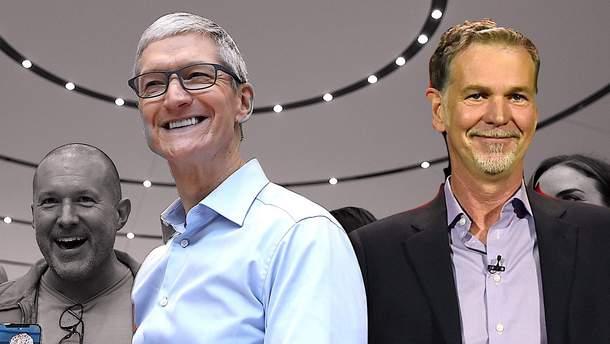 Тим Кук (Apple) и Род Гастингс (Netflix)
