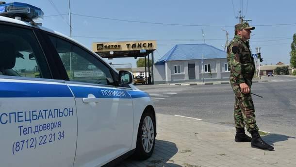 Застрелили полицейского в Чечне
