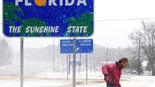 Вперше за майже 30 років у Флориді випав сніг