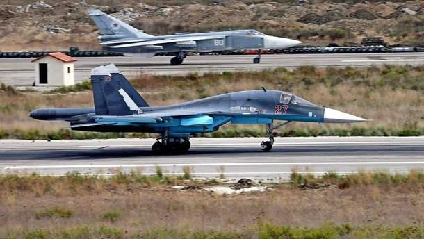 У мережі показали фото розбитих російських літаків з авіабази у Сирії