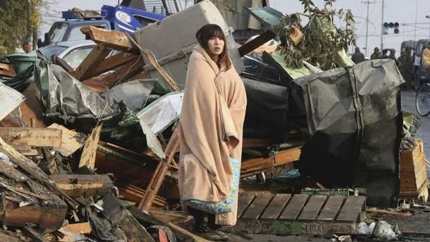 Последствия землетрясения в Японии (иллюстрация)