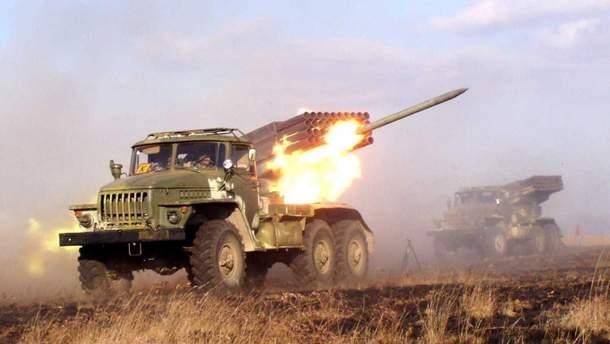 """Росія перекинула на Донбас 122-мм РСЗВ """"Град"""""""