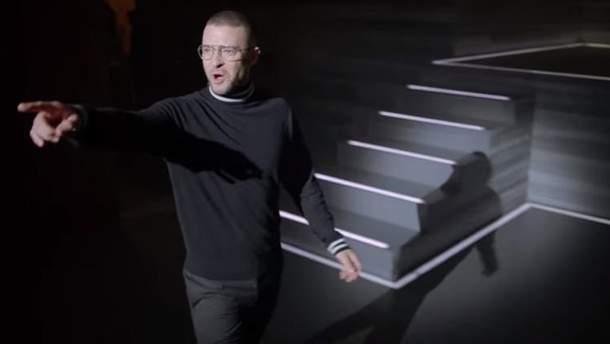 Джастін Тімберлейк в образі Стіва Джобса у кліпі