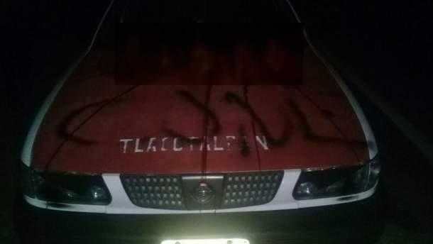 Головы обнаружили на багажнике такси