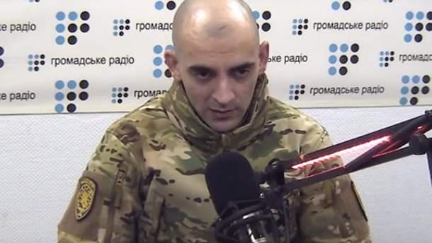 """Освобожденный из плена боевиков боец """"Азова"""" Чуднецов"""