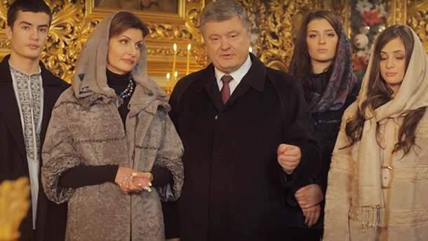 Порошенко поздравил украинцев с Рождеством