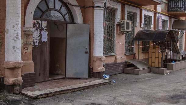 Место убийства на Подоле в Киеве