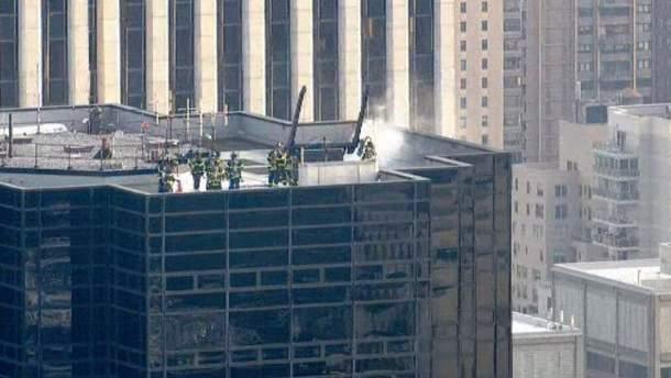 Пожар в небоскребе Трампа