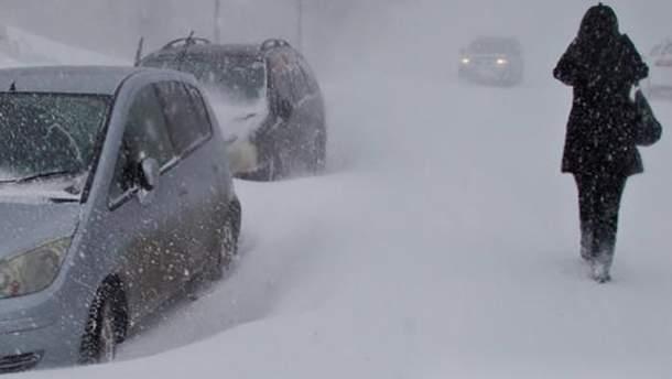 В России из-за мощного циклона застряли десятки машин