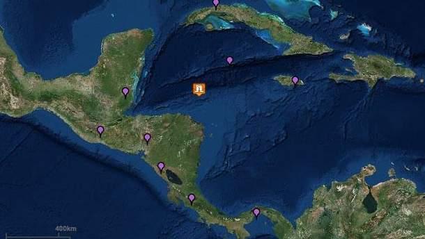 У Карибському морі стався потужний землетрус магнітудою 7,6