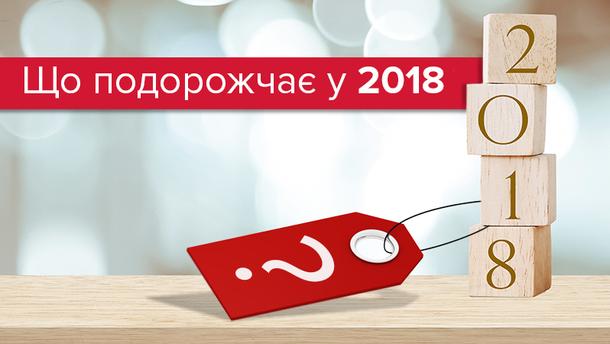 Як зміняться ціни на продукти та послуги у 2018 році