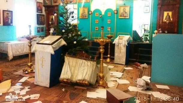У Чорноморську розгромили церкву УПЦ МП
