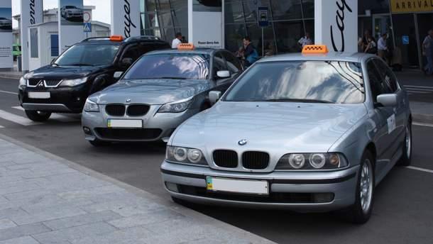 Машины такси (иллюстрация)
