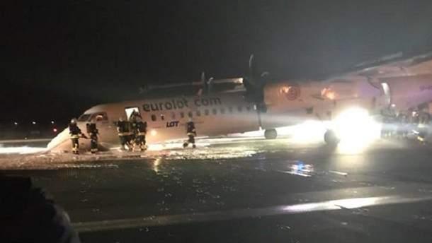 Авария самолета в Варшаве
