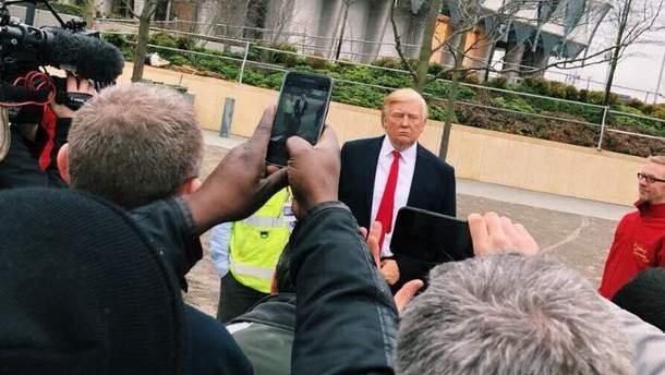 В Лондоне появился восковой Трамп
