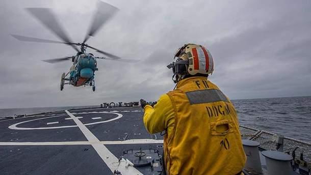 Учения морской авиации ВМС ВСУ