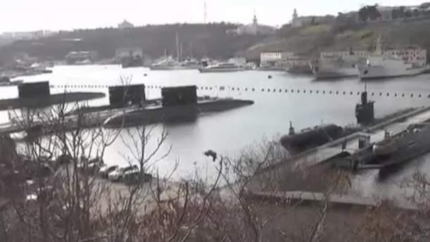 У мережі показали військові кораблі в Криму