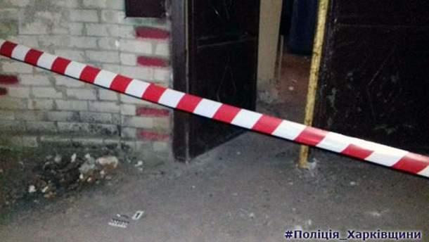 Место взрыва на Харьковщине
